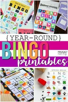 Themed Bingo Game Printables for the Entire School Year Christmas Bingo Printable, Christmas Bingo Game, Halloween Bingo, Printable Crafts, Free Printables, Bingo Games, Free Games, Road Trip Bingo, Scavenger Hunt For Kids