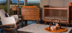 All nursery furniture made in the USA by Newport Cottages. Available in over 30 finish options. Modern Baby Furniture, Modern Baby Bedding, Modern Crib, Cottage Furniture, Midcentury Nursery Furniture, Baby Girl Room Themes, Baby Room Decor, Midcentury Modern, Baby Boys