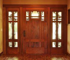 Door by Craftsman Door Company - Art Glass by Theodore Ellison Designs