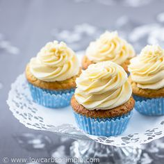 Yummy, creamy, firm, easy to pipe basic sugar-free low-carb butter frosting with luscious orange butter frosting variation. Perfect for LCHF celebrations!
