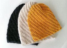Hue med vri Hue, Knitted Hats, Beanie, Knitting, Fashion, Moda, Tricot, Fashion Styles, Breien