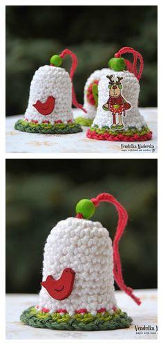 Christmas Bell Ornament - Free Crochet Pattern : coolcreativities