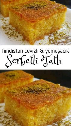 Hindistan Cevizli Şerbetli Tatlı – Nefis Yemek Tarifleri – Tatlı tarifleri – Las recetas más prácticas y fáciles Sweet Desserts, Easy Desserts, Delicious Desserts, Dessert Recipes, Yummy Food, Bolo Grande, Yummy Recipes, Coconut Syrup, Cakes Plus