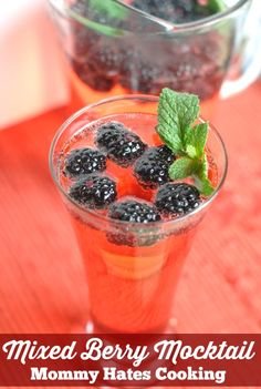 Refreshing Mixed Berry Mocktail