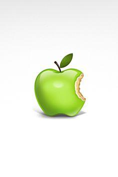 iPhone 3 Wallpaper - Apple, Computers, Green, Logos, Mac, White, by Riccardo Carlet