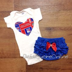 New York Rangers Girls Outfit by BebeSucreOnline on Etsy, $30.00