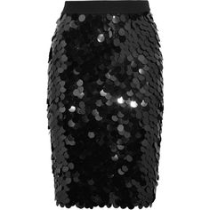 Sonia Rykiel Sequined wool skirt (2,060 BAM) ❤ liked on Polyvore featuring skirts, black, bottoms, stretch skirts, holiday skirts, sonia rykiel skirt, sonia rykiel and woolen skirt