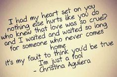 Love this song. Just a Fool, Blake Shelton and Christina Aguilera