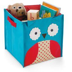 Owl nursery storage bin from Skip Hop Childrens Storage Boxes, Toy Storage Boxes, Kids Storage, Toy Boxes, Storage Baskets, Cube Storage, Owl Themed Nursery, Owl Nursery, Nursery Decor
