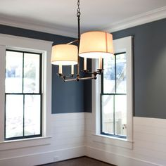 Very similar to my dining room wall color...love the shiplap wainscoting