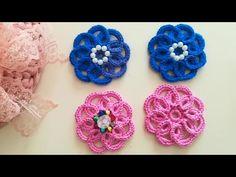 Bargello, Crochet Home, Baby Booties, Flower Making, Crochet Flowers, Free Food, Crochet Earrings, Crochet Patterns, Beads