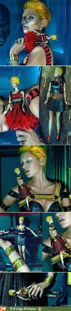 A good look at that Kate Moss Doll from the Alexander McQueen ad campaign