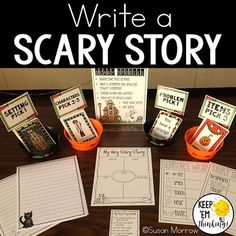 What kid doesn't like scary stories? This Halloween Writing center is perfect to help your kiddos write super scary stories! Included in the packed is everything you need to set up a Halloween writing center in your classroom.