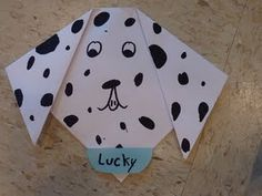puppy origami craft