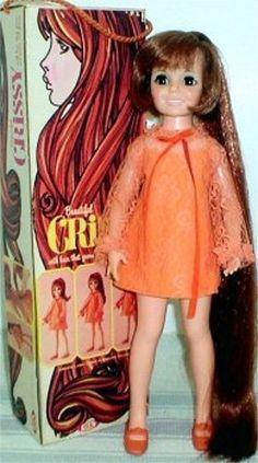 Ideal Crissy Doll...I had this one. (One of 7 in series) Velvet, Cinnamon, Tressy, Brandi, Mia, Dina...