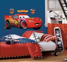 Cars - Lightening McQueen Peel & Stick Giant Wall Decal Decalque em parede