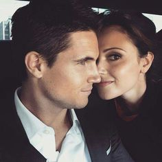 Italia Ricci and Robbie Amell. They literally melt my heart. Perfect Perfect Perfect couple <3