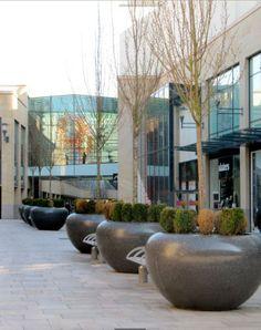 Marte planter #Bellitalia #marble street furniture. Cardiff