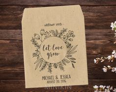 25 x seed packet wedding favors personalised with your names and wedding date…