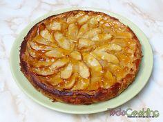 Tarta de manzana y yogur Cinnamon Rolls, No Cook Meals, Apple Pie, Recipies, Food And Drink, Pudding, Nutrition, Bread, Homemade