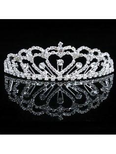 Rhinestiones and Zircons Wedding Bridal Tiara