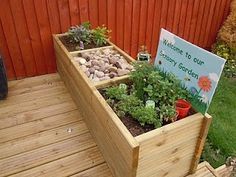 Children's Sensory Garden -- I love this idea!! How cute, especially if I start nannying in my own home..this would be excellent!