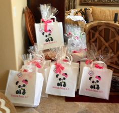 Panda Party Favor Bags!  For details on this adorable party and party printables visit www.thatpartychick.net!