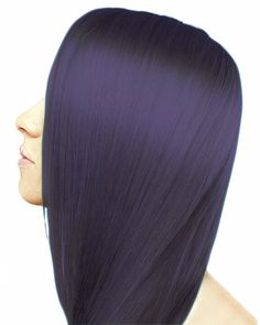 Ion Color Brilliance Permanent Liquid Hair Color Intense Black - ION At Home Bright Hair Colors, Hair Color Purple, Hair Color For Black Hair, Brown Hair Colors, Darkest Brown Hair Color, Blue Black Hair Color, Color Red, Midnight Blue Hair, Hair Chart