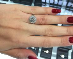 It would be hard to miss the mark engagement ring shopping with this target style ring Shop Engagement Rings, Target Style, Jewels, Diamond, Shopping, Jewerly, Diamonds, Gemstones, Fine Jewelry