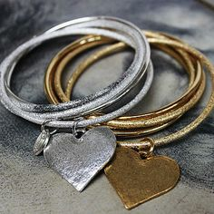 heart bangle by boutique by jamie | notonthehighstreet.com