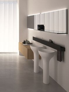 Vrijstaande Wastafel. Agapedesign. Drop Freestanding Washbasin.  Www.sjartec.nl