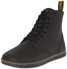 Dr. Martens Men's Tobias Boot,Black Greasy Lamper,6 UK/7 M US