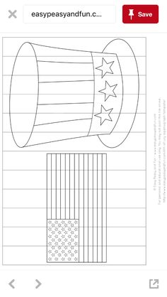 Uncle sam hat with flag coloring page English Day, Us Holidays, Flag Coloring Pages, Hat Crafts, All Themes, Camping Theme, Summer Crafts, Fourth Of July, Jelly