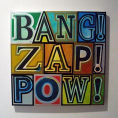 Garrett Weider art #comic book, boom, zap, pow!