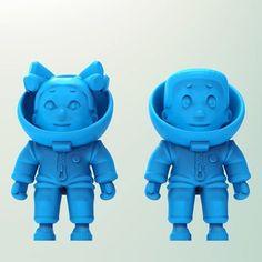 Download on https://cults3d.com #3Dprinting #Impression3D Little astronaut STL model, hacmanhac