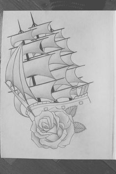 Art - Drawing - Ship - Rose <3