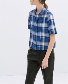 Image 2 of CHECKED SHIRT from Zara