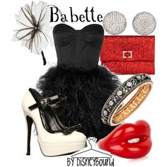 Babette - Polyvore I'll have to remember this for a clever Halloween costume