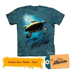 Tricouri The Mountain – Tricou Green Sea Turtle Turtle, Sea, Mountain, Green, Mens Tops, T Shirt, Youth, Kids, Products