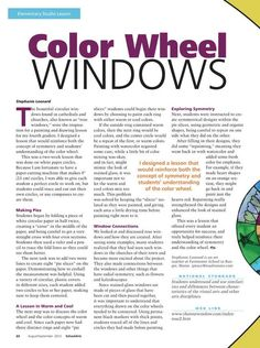 So cool! Want to do this but with HS School and Rose Windows...Arts - August/September 2012 - Page 22-23