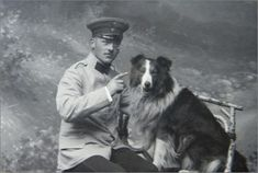 Vintage Doggy: A German and his Collie, 1890's