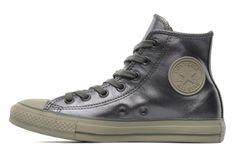 Chuck Taylor All Star Metal Leather Hi W Converse (Grigio) : consegna gratuita dei tuoi Scarpe da tennis Chuck Taylor All Star Metal Leather...