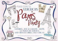 Paris Party Invite...love!