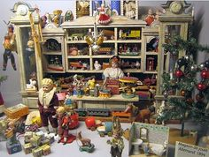 Old German Toy and Christmas Store from 1894