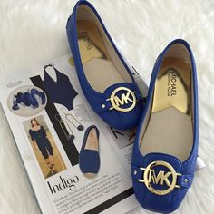 MICHAEL Michael Kors Leather Moccasins Gleaming iconic hardware makes a bold statement over these textured leather moccasins, complete with an ultra soft leather insole. Electric Blue Color-Summer 2016 Color of the Season. New in box. No Trades. TB1118. MICHAEL Michael Kors Shoes Moccasins