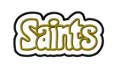 Hey, I found this really awesome Etsy listing at https://www.etsy.com/listing/200276116/saints-double-applique-embroidery-design