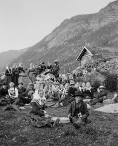 "Portraits of dignity amid a stunning natural landscape by Nils Olsson Reppen. ""At the Binste mountain farm in Sogndalsdalen"""