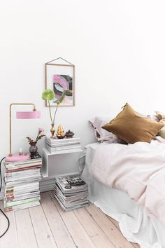 my scandinavian home: Where Raw and Refined Meet In The Middle – Danish Style – Toptrendpin Bedroom Nook, Bedroom Decor, Danish Apartment, Studio Apartment, Mustard Yellow Bedrooms, Interior Exterior, Interior Design, Nordic Bedroom, Turbulence Deco