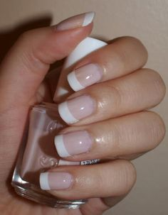 Classic French Manicure- Im not about all the crazy nail stuffola....Its classic french for this girl