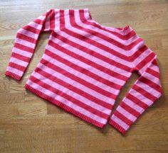 Sweater slippers so I decided to commemorate the LONGEST winter I can remember by making myself some striped slippers from an old, holey sweater. Old Sweater, Upcycled Sweater, Sweaters, Sweater Boots, Diy Clothing, Sewing Clothes, Pullover Upcycling, Sewing Slippers, Homemade Shoes